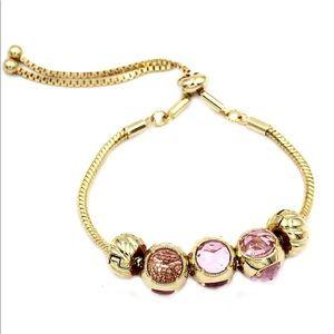 Beautiful deep pink crystal bracelet